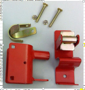 Red Color Metal Fence Accessories / Steel Gate Latch Carbon Steel Material