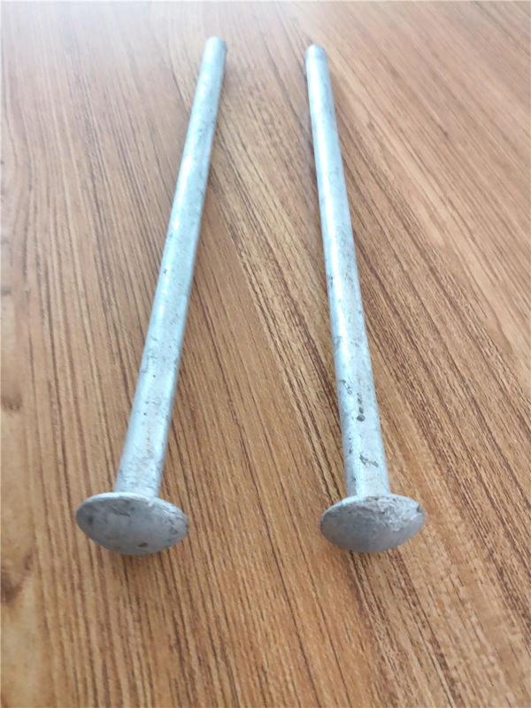 Hot Dipped Galvanized Earth Ground Anchor , Steel Tent Stakes Tent Spike 19mm Diameter